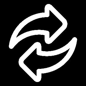 ícone de duas setas circulares