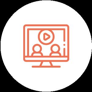 ícone de videoconferencia